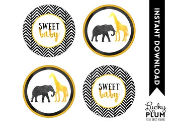 Animal Cupcake Toppers / Boho Cupcake Toppers / Safari Cupcake Toppers / Elephant Cupcake Toppers / Giraffe Cupcake Toppers