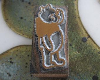 Winnie the Pooh Vintage Letterpress Printers Block