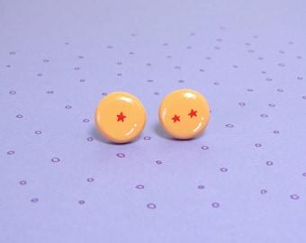 Dragon Ball Z Clay Sterling Silver Post Earrings