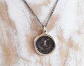 Firm of Purpose - Latin Wax Seal Necklace - Men or Women - TENAX PROPOSITI - 123