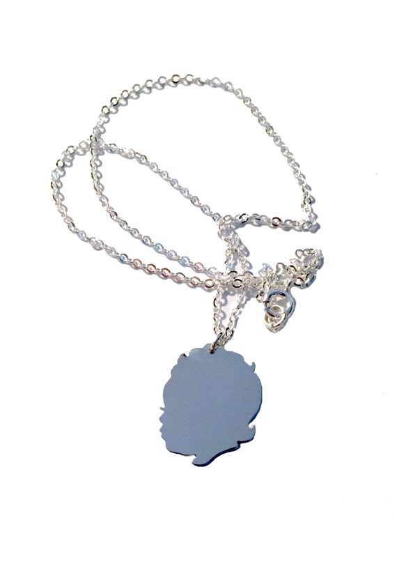 Mother's Day Argentium Sterling Silver Personalized Custom Child Profile Silhouette Necklace