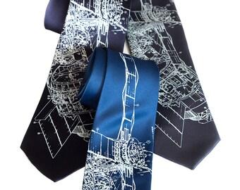 Skylab Necktie. NASA Space Station print SILK tie. Astronaut, silkscreened science tie. Space lover gift, rocket scientist.