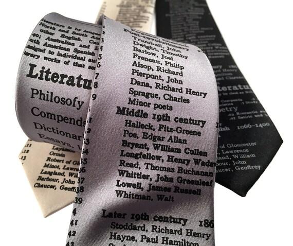 Literary Necktie