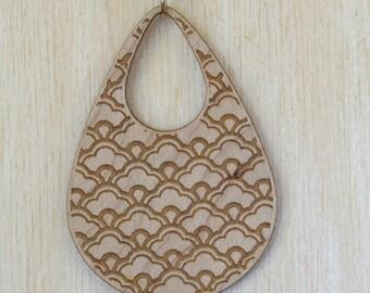 Japanese Flower Maple Wood Necklace