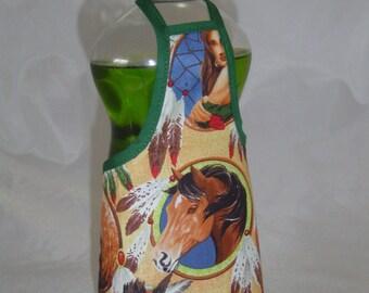 Horse Decor Dish Soap Apron Bottle Cover Wrap Staffer Party Favor Lg