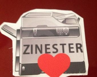 Zinester Love VINYL STICKER