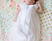 White baby girl dress blessing, baptims, christening, portrait CUSTOM 3m,6m,9m,12m,18m White Dove