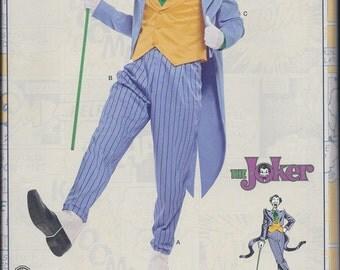 Simplicity 8195 Mens Joker Cosplay Costume Coat Pants Vest Bow Tie UNCUT Sewing Pattern