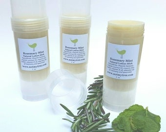 Organic Lotion Stick, Rosemary Mint, All Natural, Natural Body Care, Lotion Bar, Hands Free, Lotion Tube, Stocking Stuffer, Beauty Gift