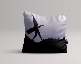 Pied piper of Hamelin - Illustrated throw pillow cover