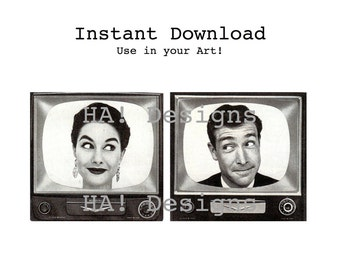 Fun & Funky TV People Instant Download