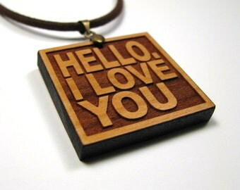 JIM MORRISON The Doors Band - Song Lyric Jewelry Pendant and Necklace - Hello, I Love You - Custom Lyrics Available