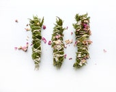 Hand-crafted Cedar smudge stick// White Sage// Dried Roses //Lavender//Smudge Stick//Space clearing//Protection//Cleanse//Housewarming gift