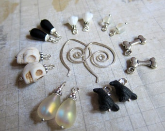 Sihaya Designs Earring Wardrobe - Dancing in the Boneyard - Autumn and Halloween Mix and Match Earring Set