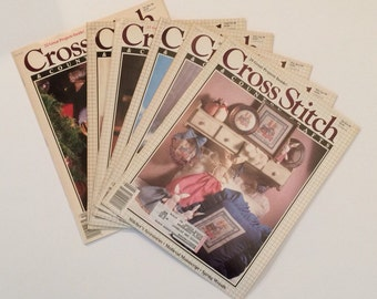 Cross Stitch and Country Crafts magazines 1990 complete year 6 issues