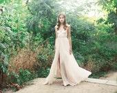 V-neck wedding gown: Blush McKenna