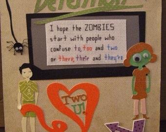 Grammar - Zombie Home Decor