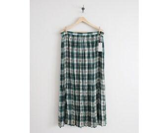 southwestern skirt / plaid skirt / sheer skirt