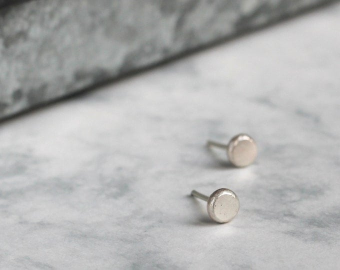 Simple Silver Studs - Handmade Recycled Jewellery
