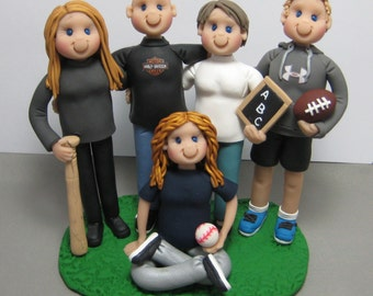 DEPOSIT for a custom made Family figurine/cake topper Polymer Clay