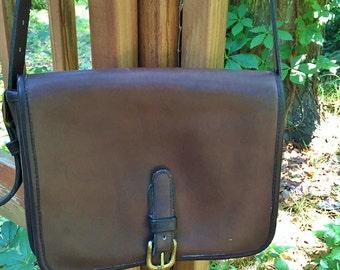 Vintage Dark Brown Saddle Bag Bonnie Cashin Buckle Messenger Flap New York City