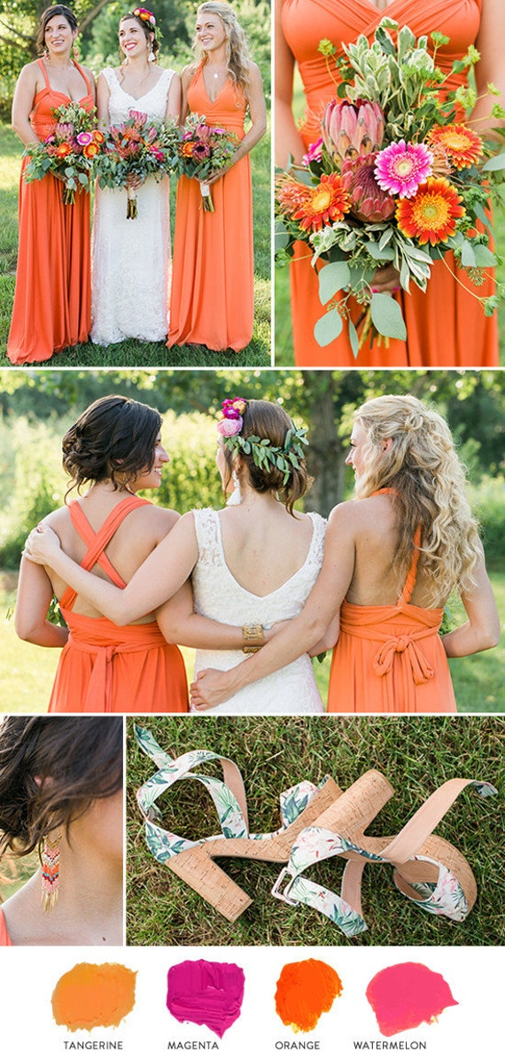 reserved for jenniferbabos Persimmon infinity dresses ALL