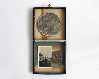 Original Vintage Photo and Poetry Mixed Media Assemblage