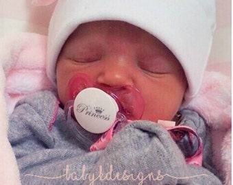 Newborn Hospital Hat, Infant Beanie, Baby Beanie, Girl Hat, Infant Hat, Baby Hospital Hat w. Pink Bow Flower Pink, Girl Cotton Hat TWO SIZES