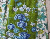 P-S Blue Roses Skirt  Remix Upcycled Vintage Textiles Tea Towel