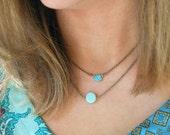 Turquoise choker necklace. Tiedupmemories