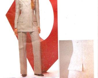 Designer Givenchy suit Alexander McQueen women business jacket pants sewing pattern Vogue 2467 Couturier Paris Original Bust 34 UNCUT