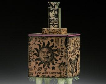 Box, Handmade box, Artist Storage Box, Art Supplies, Journal, Urn