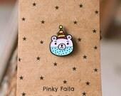Oyaji-kkuma Enamel Pin, Lapel Pin, Pin Badge