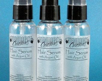 2oz Hair Serum with Argan Oil ((Scents O - P)) - earthy, fruity, floral, bakery, citrus, hippie, berry, woodsy, etc
