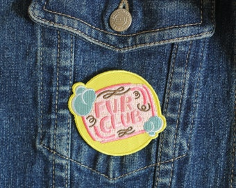 Fur Club Iron-on Embroidered Patch