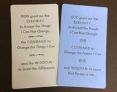 Serenity Prayer Pocket Cards - set of 4
