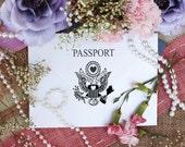 Passport rubber stamp measures 2 x 3 --5692