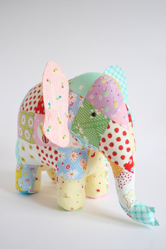 Soft Toy Patterns : Trunk show elephant sewing pattern patchwork