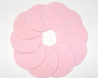 Pink Reusable Cotton Rounds as Make-up Remover Pads