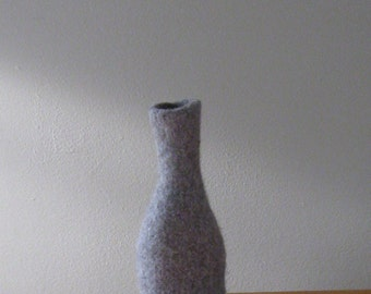 Medium Charcoal Grey Heather Bottle - Felted - Original Design - In Stock - Ready to Ship