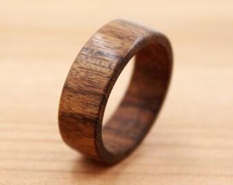 Ovangkol Wood Ring - Shedua Wood Ring - Custom Wood Ring - Unique Wedding Ring - Natural Jewelry