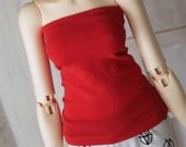 SD Doll BJD clothes Red pencil skirt OR tube top doll clothes MonstroDesigns