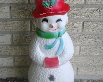 Vintage Snowman Yard light, Happy Frosty the Snowman, Christmas Decoration, Winter Decor, Union Products, Decorative lighting outf