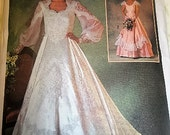 Fairy Tale Wedding Gown & Bridesmaid Dress Vintage Simplicity 6764 Pattern Size 8 Michele Piccione Designs DIY Vintage Wedding