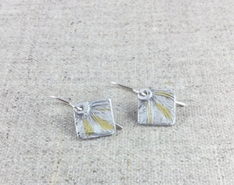 Fine Silver Earrings with Keum Boo