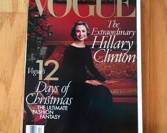 Hillary Clinton Vogue December 1998