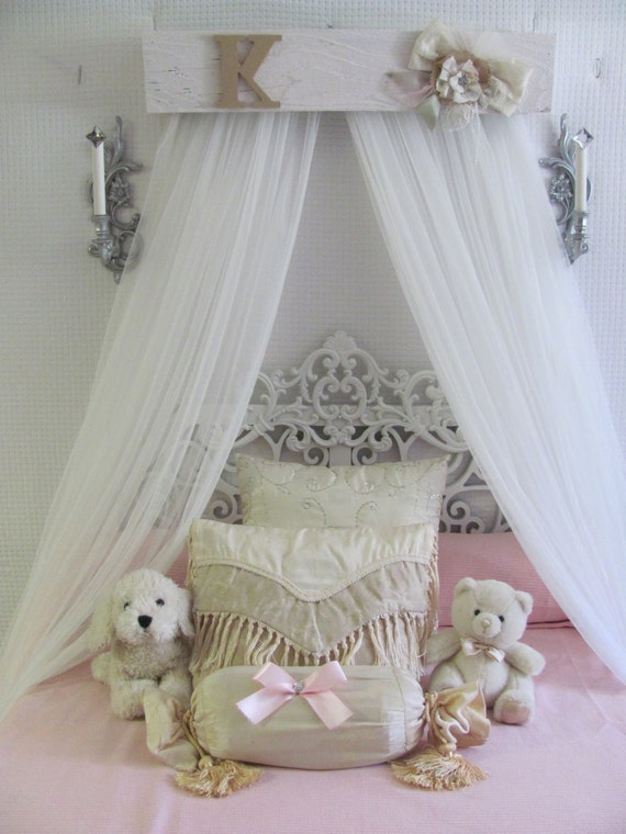 shabby chic princess bed crown canopy crib baby nursery decor. Black Bedroom Furniture Sets. Home Design Ideas