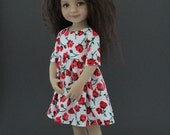 Stop and Smell the Roses dress and headband set for Little Darlings dolls by Dianna Effner designed by Matilda PInk