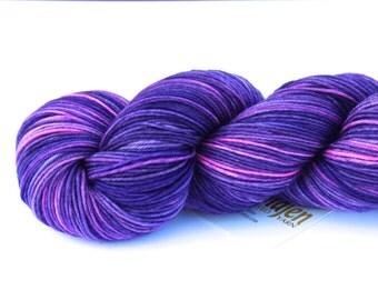 Lisa Frank Fantasy--hand dyed sock yarn, merino and nylon, (463yds/100gm)