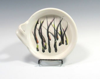 Brie Baker - Ceramic Cheese Baker - Black and White Brie Baker - Pottery Brie Baker - dip dish - condiment bowl - cheese plate - baking dish